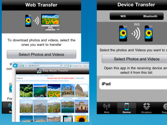 Easy Media Transfer iPhone iPad 2 Easy Media Transfer iPhone iPad : Transfert en WiFi Photo / Video entre Mac / PC/ iOS (gratuit)