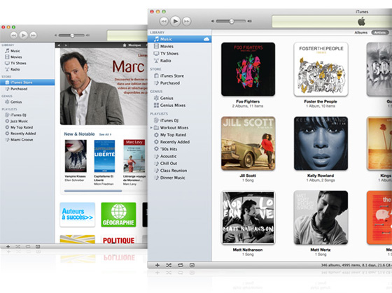 itunes 10 7 mac osx windows Mise à Jour iTunes 10.7 : Indispensable pour iOS 6, iPod Touch 7 et Nano 7 (gratuit)