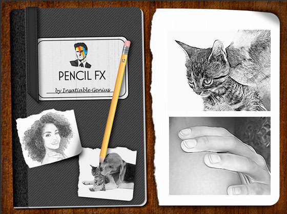 PencilFX iPhone iPad - Transformer vos Photos ou Videos en Dessins (gratuit)