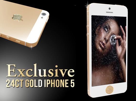 Luxueux iPhone 5 GoldStriker : Or Jaune 24 Carats et Cristaux (images)