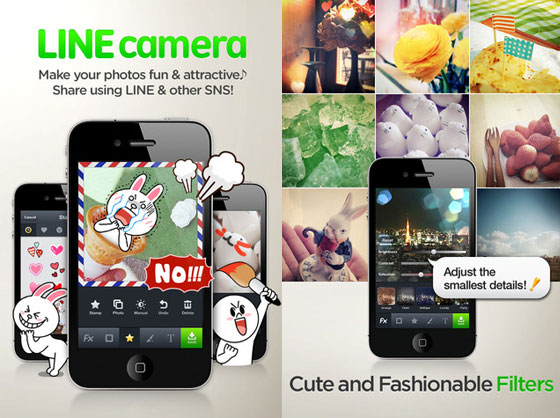 1 Line Camera iPhone Line Camera iPhone: Retouche, Effets, Partage Photo Multi Reseaux (gratuit)