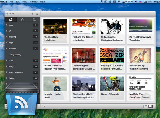 1 MobileRSS Pro HD Mac OSX iPhone iPad MobileRSS Pro HD Mac OSX iPhone iPad : Client Google Reader (gratuit)