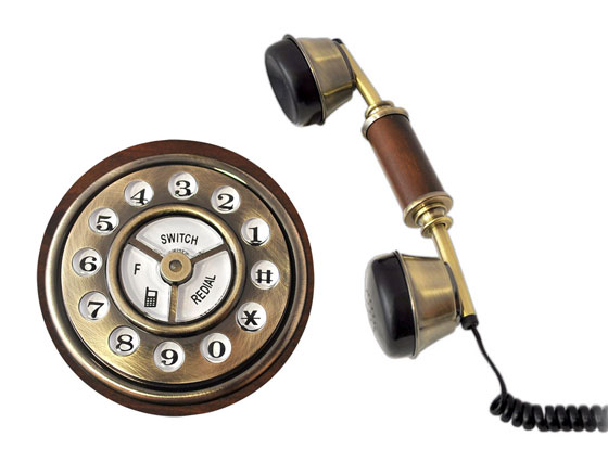 2 Pyle Audio Retro Home Telephone iPhone images - Pyle Audio Retro Home Téléphone : Dock et Telephone Rustique pour iPhone (images)