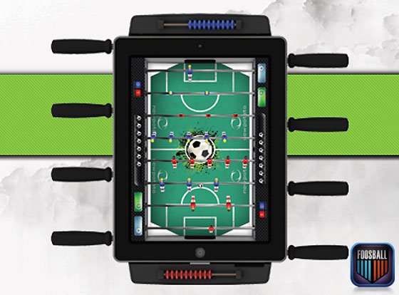Classic Match Foosball : Transformer l'iPad Kicker Baby Foot Physique (images)