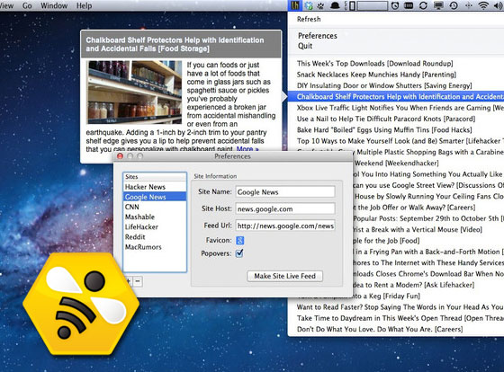 NewsBee Mac OSX