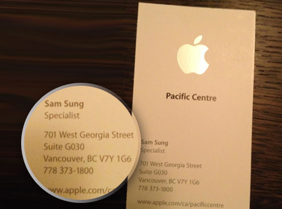 Sam Sung Apple Store Canada