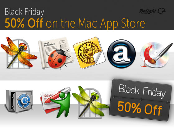 belight software blackfriday 2012 Live Interior 3D, Swift Publisher, Art Text, etc : 8 Logiciels Mac OSX à   50% (promo)