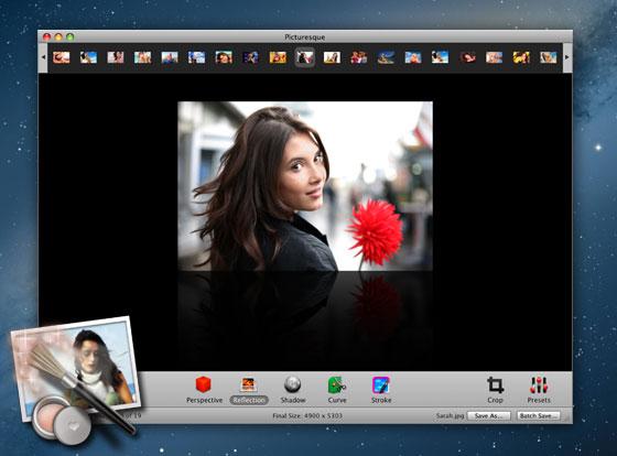 Picturesque Mac OSX : Effets et Présentation Photo de Pros (promo)