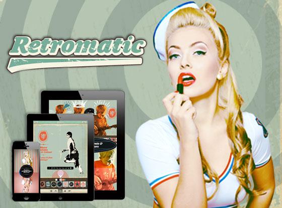 Extrêmement Retromatic HD iPhone iPad : Authentiques Effets et Typos Retro  OL58