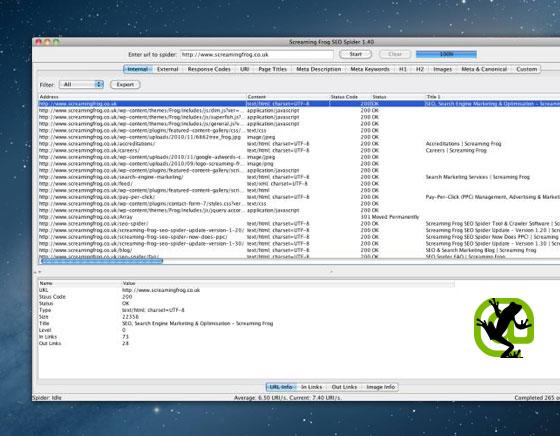 SEO Spider Tool Mac OSX - Logiciel Pro d'Optimisation SEO (gratuit)