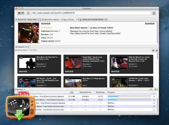 Tubulator Mac OSX : Télécharger Vidéo et Audio de YouTube (gratuit)