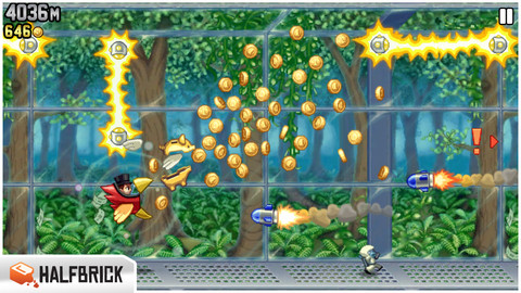 Jetpack Joyride iOS 20 Jeux Gratuits iPhone, iPod Touch, iPad (excellents)