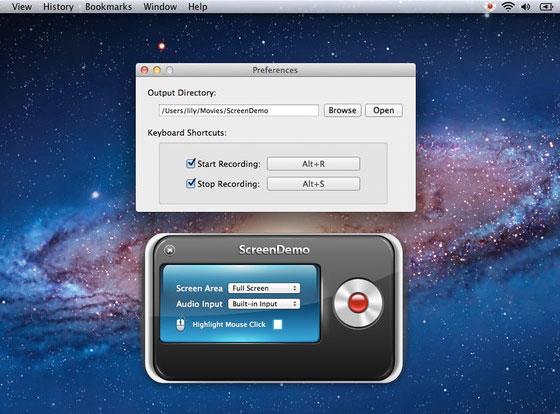 ScreenDemo Mac OSX : Capture d'Ecran Vidéo pour Screencasts (gratuit)