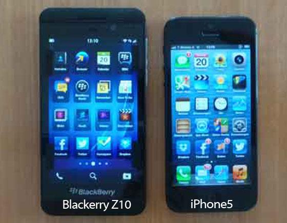 BlackBerry Z10 vs iPhone 5 : Comparatif Général en Images et vidéo