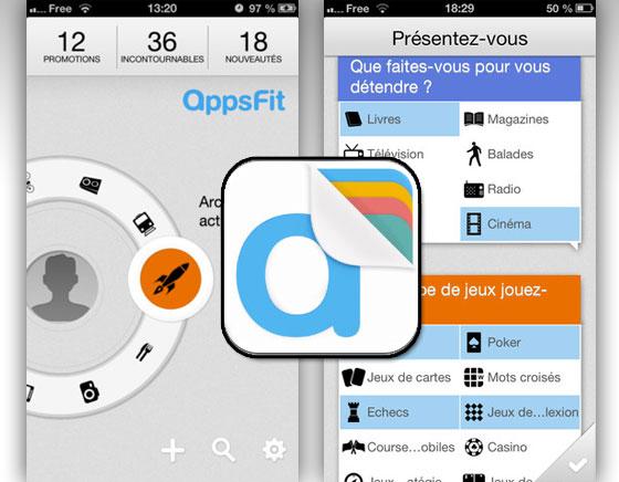 AppsFit iPhone - Moteur de Recherche d'Applications et Jeux par Affinités (gratuit)