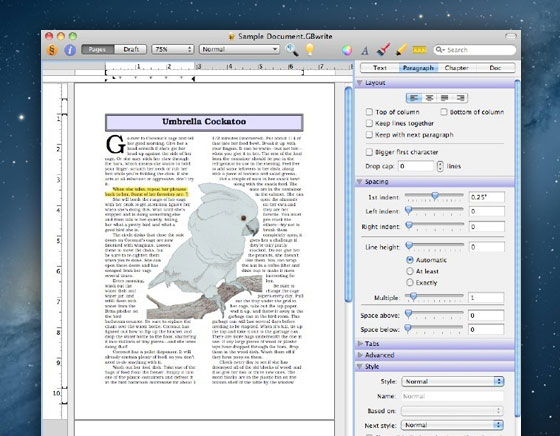 traitement de texte html mac
