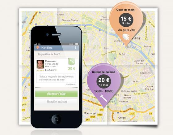 Handlerz iPhone Android : Entraide de Proximité Gratuite ou Payante (gratuit)
