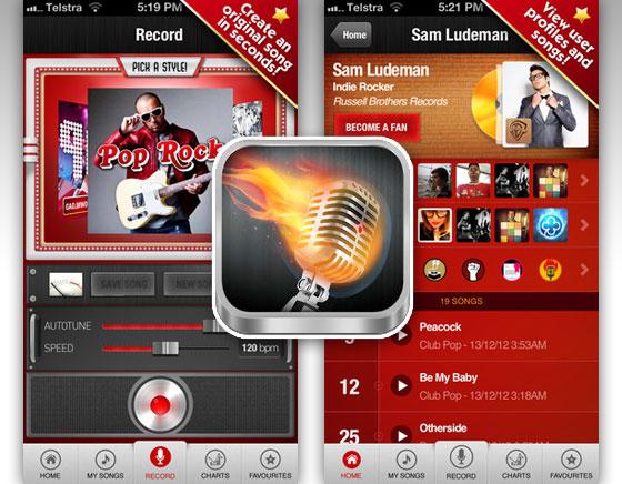 JAM iPhone : Chanter sans connaitre la Musique et Partager vos Tubes (gratuit)
