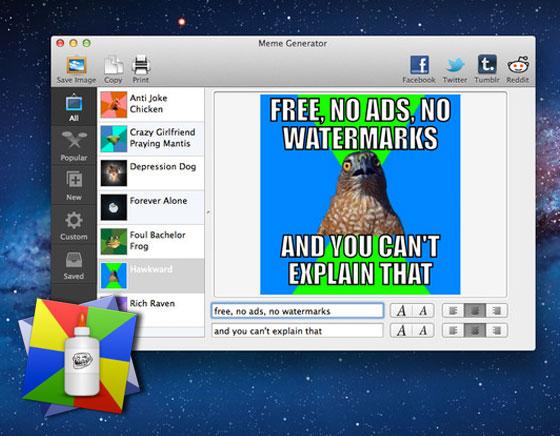 Meme Generator Mac OSX iPhone iPad - Générateur d'Images Mèmes avec Textes (gratuit)