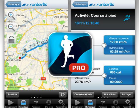Runtastic PRO iPhone - Coach Professionnel pour Coureurs et Sportifs (gratuit)