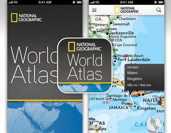World Atlas 2013 iPhone iPad - l'Atlas Mondial du National Geographic (gratuit)