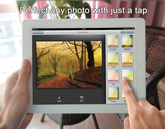 2 PhotoCool iPhone iPad PhotoCool iPhone iPad : Effets, Filtres et Partage sur Instagram, Facebook, Flickr... (gratuit)