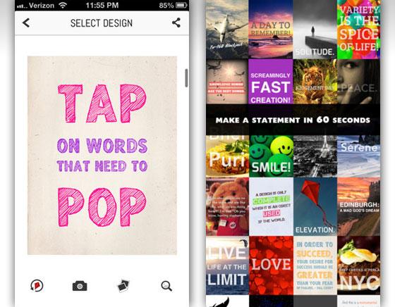 Quipio iPhone : Mettez en Image et en Typo vos Citations Préférées (gratuit)