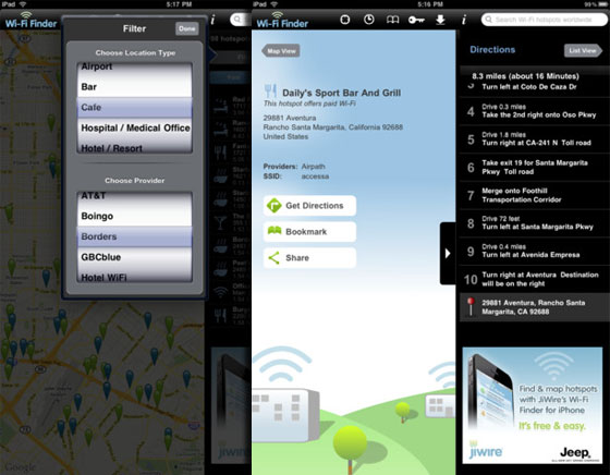 WiFi Finder iPhone iPad - Localiser un HotSpot WiFi Payant ou Gratuit (gratuit)