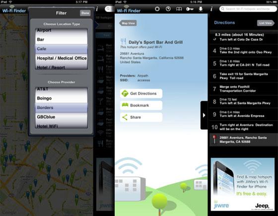 WiFi Finder iPhone iPad - Localiser un HotSpot WiFi Payant ou Gratuit (gratuit)