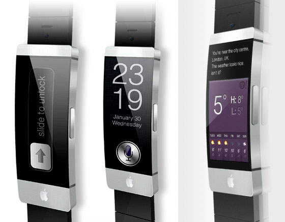 4 apple iwatch montre connectee gps wifi Concept iWatch : Une Montre Apple avec Ecran Tactile Incurvé de 2.5 (images)