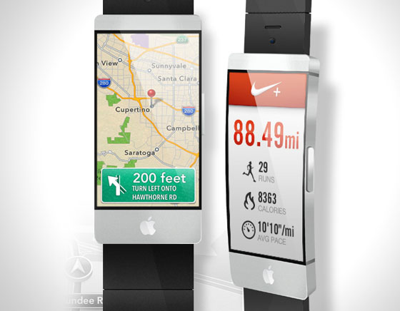 6 apple iwatch montre connectee gps wifi Concept iWatch : Une Montre Apple avec Ecran Tactile Incurvé de 2.5 (images)