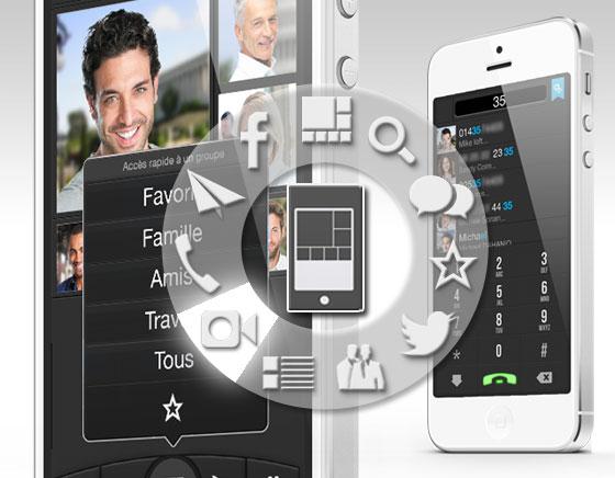 FaceTouch iPhone - Gerer Efficacement tous vos Contacts meme Facebook et Twitter