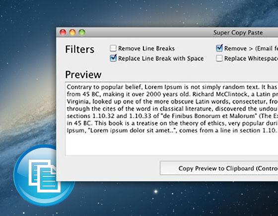 Super Copy Paste Mac OSX - Nettoyer les Textes après un Copier/Coller (gratuit)