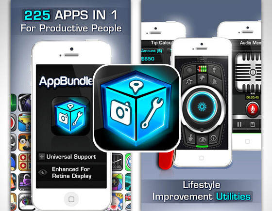 1 AppBundle 2 iPhone iPad AppBundle 2 iPhone iPad : 225 Applications et Jeux en une App à 0,89 €