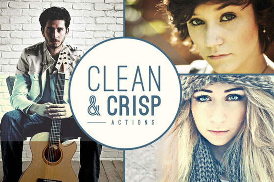 1 Clean Crisp Actions Photoshop Clean & Crisp Actions : 20 Scripts de Retouche et Effets Photoshop CS
