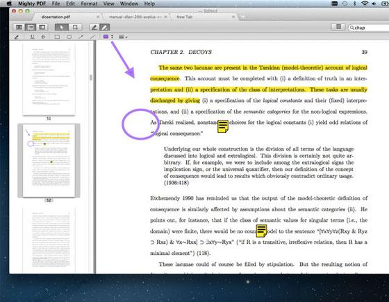 2 Mighty PDF Mac OSX Mighty PDF Mac OSX : Lecteur PDF avec Onglets (gratuit)