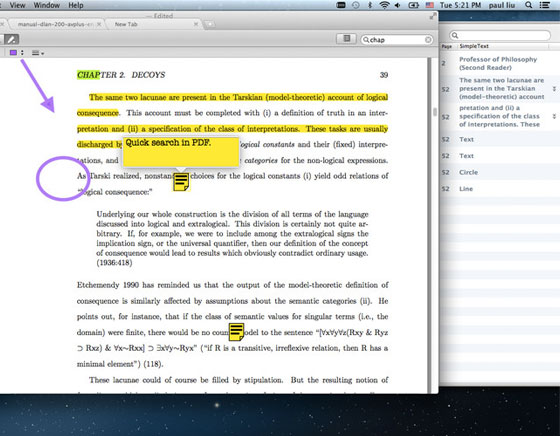 3 Mighty PDF Mac OSX Mighty PDF Mac OSX : Lecteur PDF avec Onglets (gratuit)