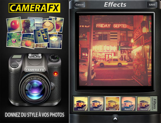 Camera FX Pro iPhone iPad Camera FX Pro iPhone iPad : Le Top de la Retouche Photo et des Effets (gratuit)