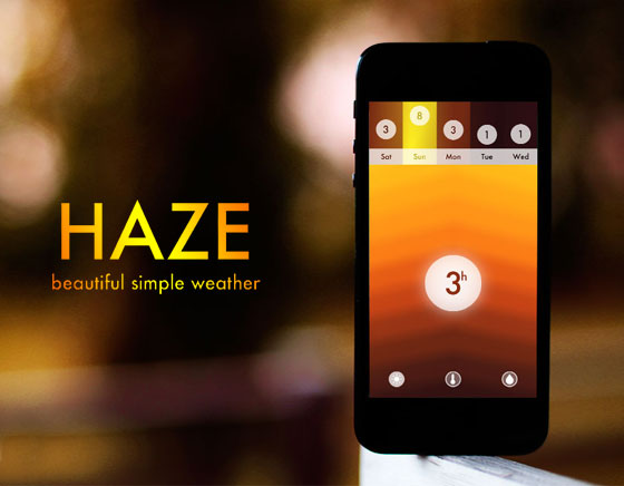 Haze iPhone Station Meteo Haze iPhone : Station Meteo au Design Chromatique (promo)