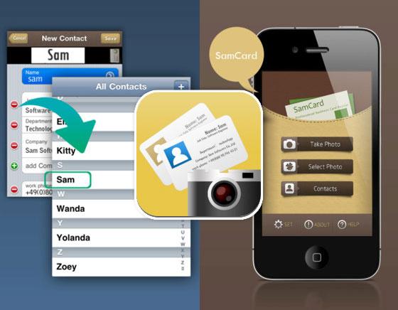 SamCard IPhone Scanner De Cartes Visites Avec OCR Gratuit