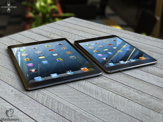 Comparatif Fictif : iPad 5 vs iPad 4 vs iPad Mini vs iPhone 5 (images)