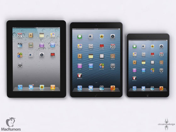 concept ipad5 c Comparatif Fictif : iPad 5 vs iPad 4 vs iPad Mini vs iPhone 5 (images)