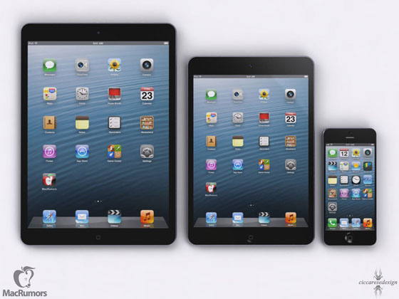 concept ipad5 d Comparatif Fictif : iPad 5 vs iPad 4 vs iPad Mini vs iPhone 5 (images)