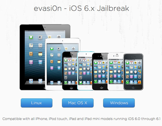 evasi0n Mac OSX Windows Linux Jailbreak iOS 6.1 Disponible gratuit Logiciel Evasi0n Mac OSX Windows : Jailbreak Untethered iOS 6.1 Disponible (gratuit)