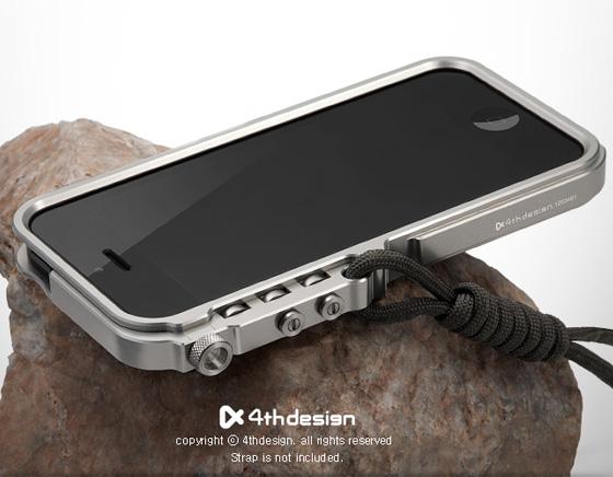 th design trigger iphone bumper titane anodise