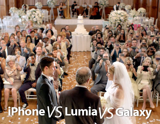Pub Bataille Galaxy S4 vs iPhone 5 : Lumia 920