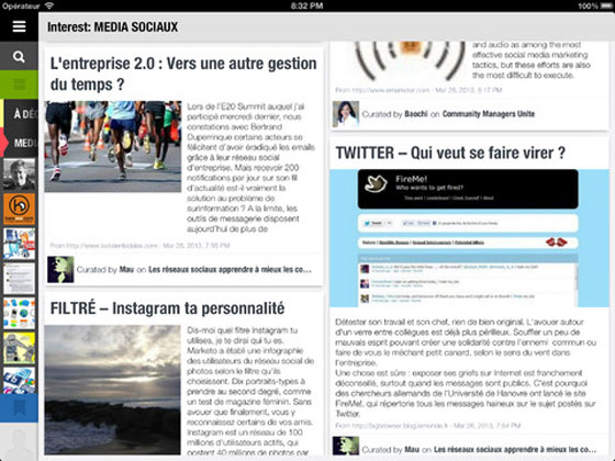 2 Read it iPad Aggregateur Scoop it Read.it iPad : lAgrégateur dActualités version Scoop.it (gratuit)