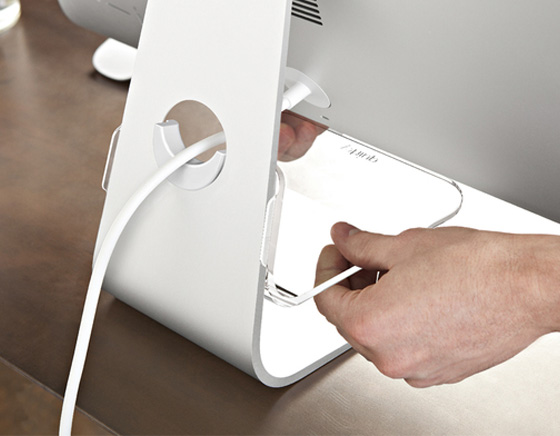 4 Support Quirky Stashboard iMac - Quirky Stashboard iMac : Etagere pour iPhone, Graveur DVD, Clavier (images)