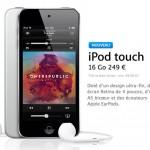Nouvel iPod Touch 16 Go sans Camera en Attendant l'iPhone Low Cost !