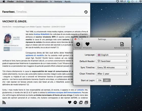 Favoriteer Mac OSX RSS Reader Lecteur MaxiApple com - Favoriteer Mac OSX : Lecteur de Fils RSS Complet et Leger (gratuit)